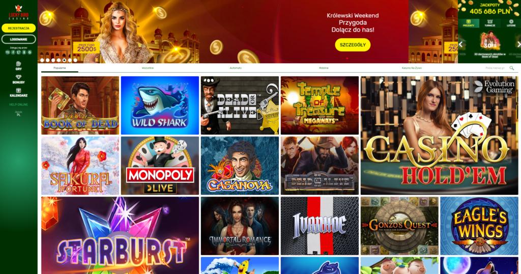 Luckybird, kasyno online