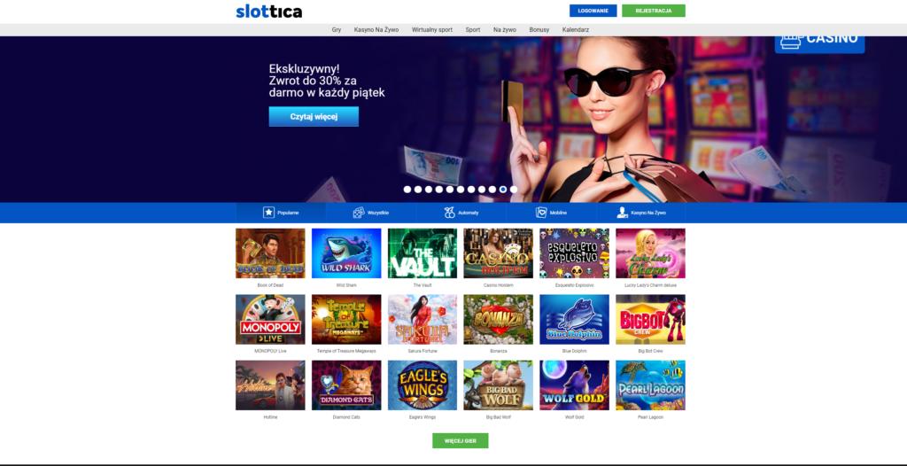 Slottica, Kasyno online