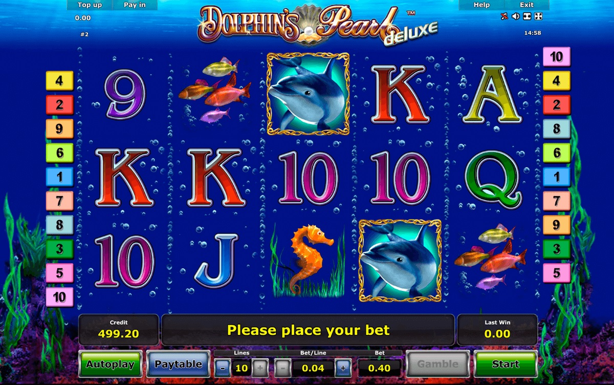 dolphins pearl deluxe novomatic slot