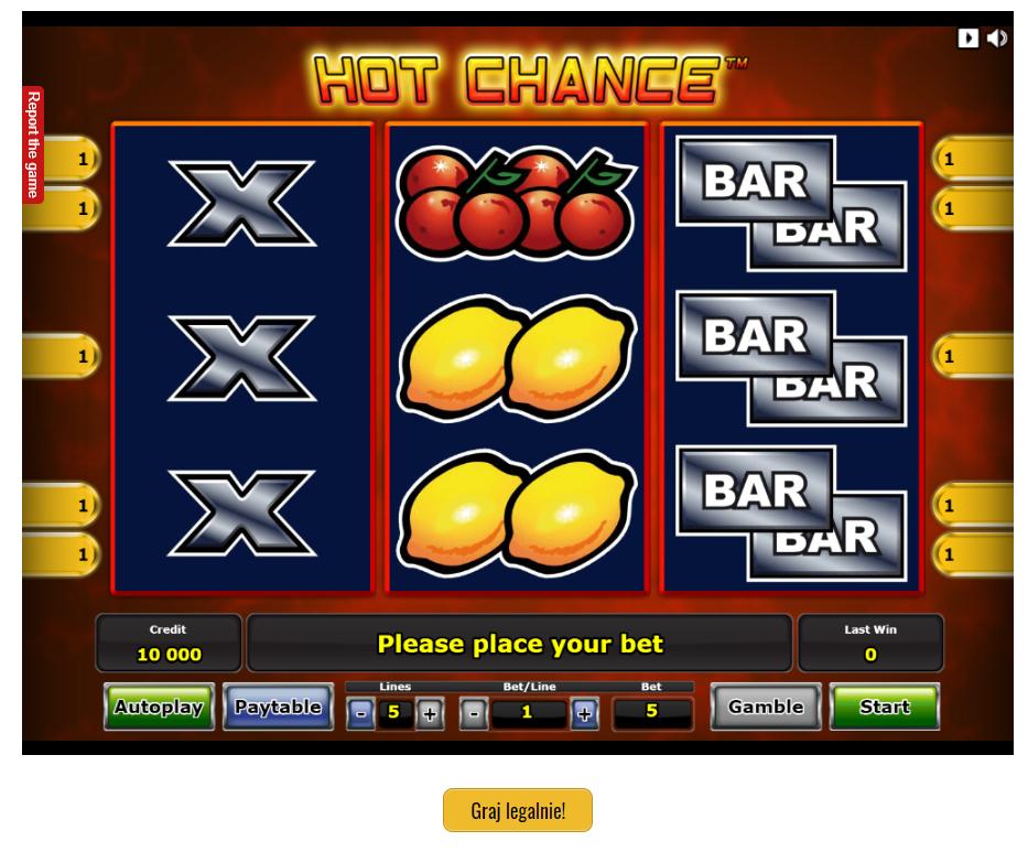 Gra kasyno Hot Chance