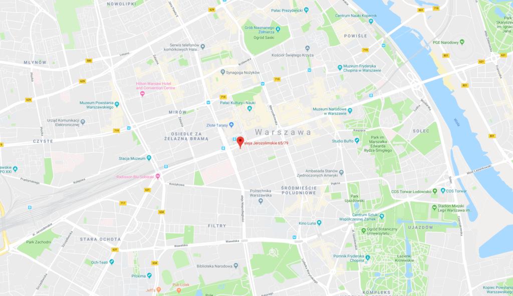 Mapa hotel Marriott